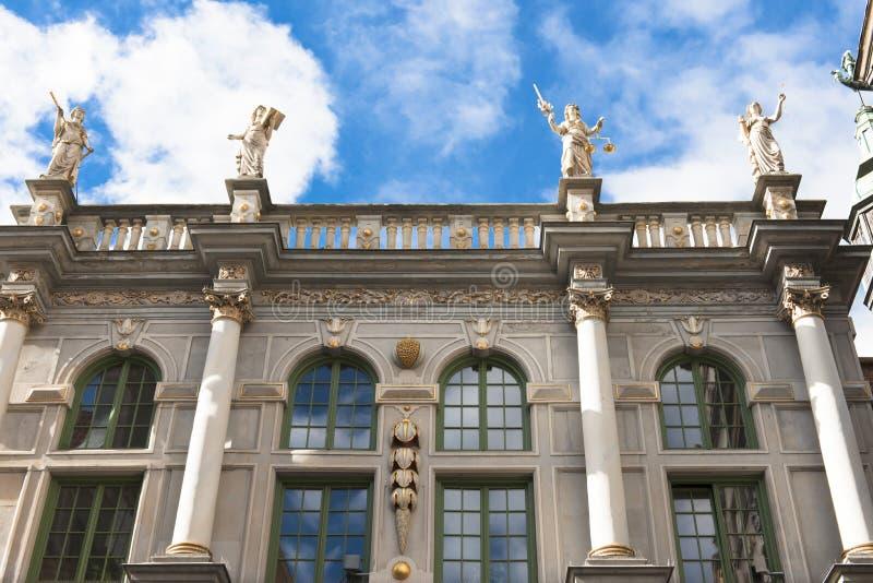 Золотой строб в Гданьске, Польша стоковые фото