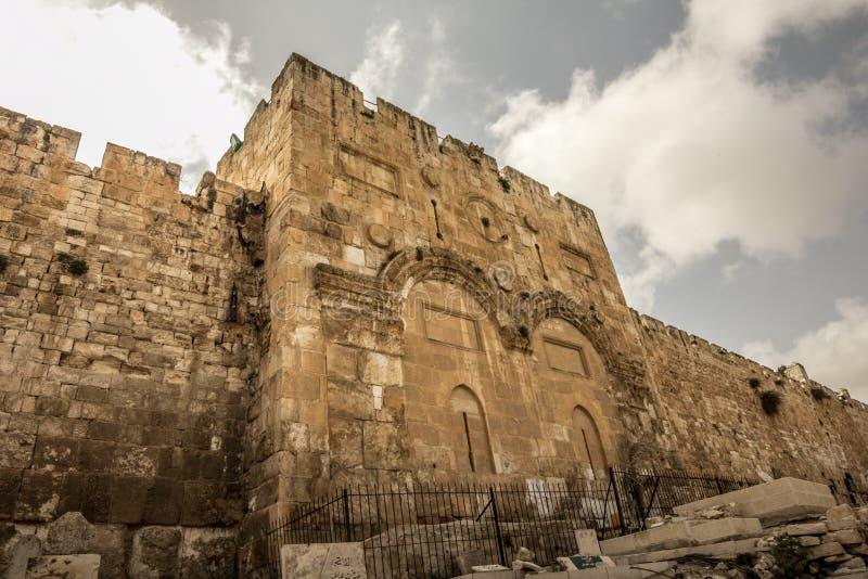 Золотой строб, Иерусалим, Израиль стоковое изображение rf