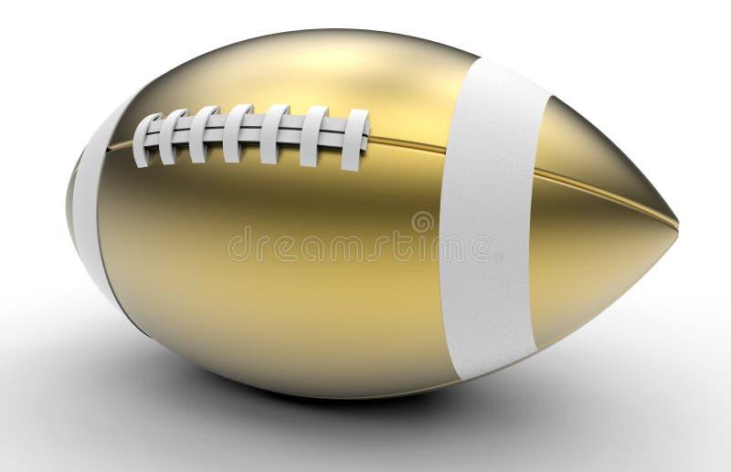 Золотой трофей футбола иллюстрация вектора