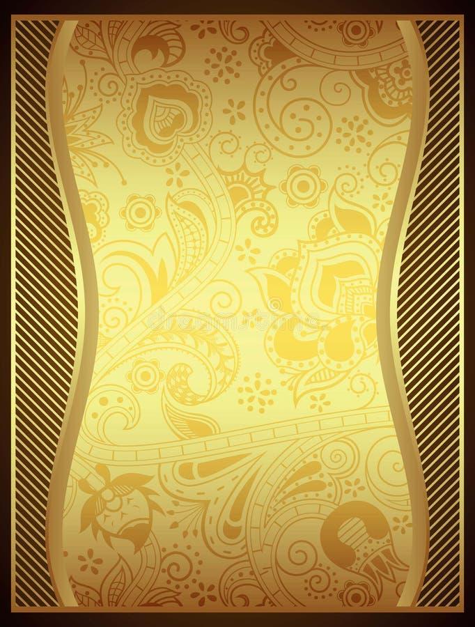 золото абстрактной предпосылки флористическое бесплатная иллюстрация