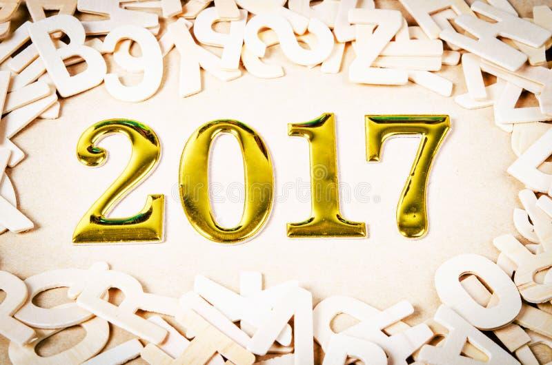 Золото 2017 номеров стоковое фото rf