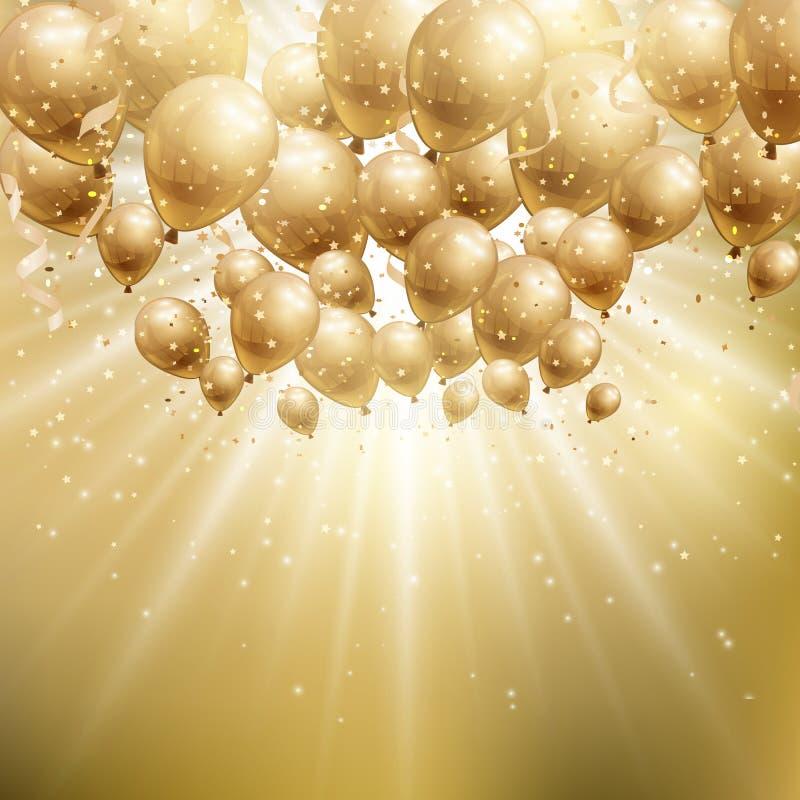 Золото раздувает предпосылка бесплатная иллюстрация