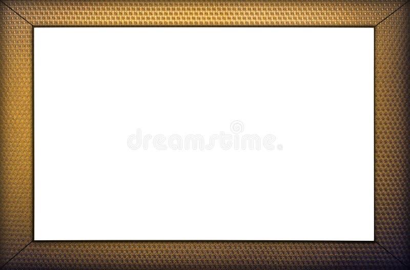 золото рамки клиппирования предпосылки включая изолированную белизну путя стоковое изображение