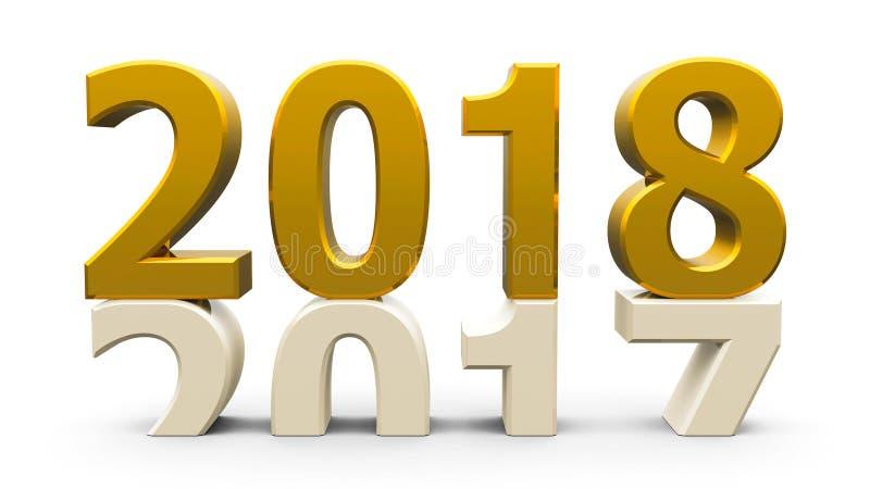 золото 2017-2018 иллюстрация штока