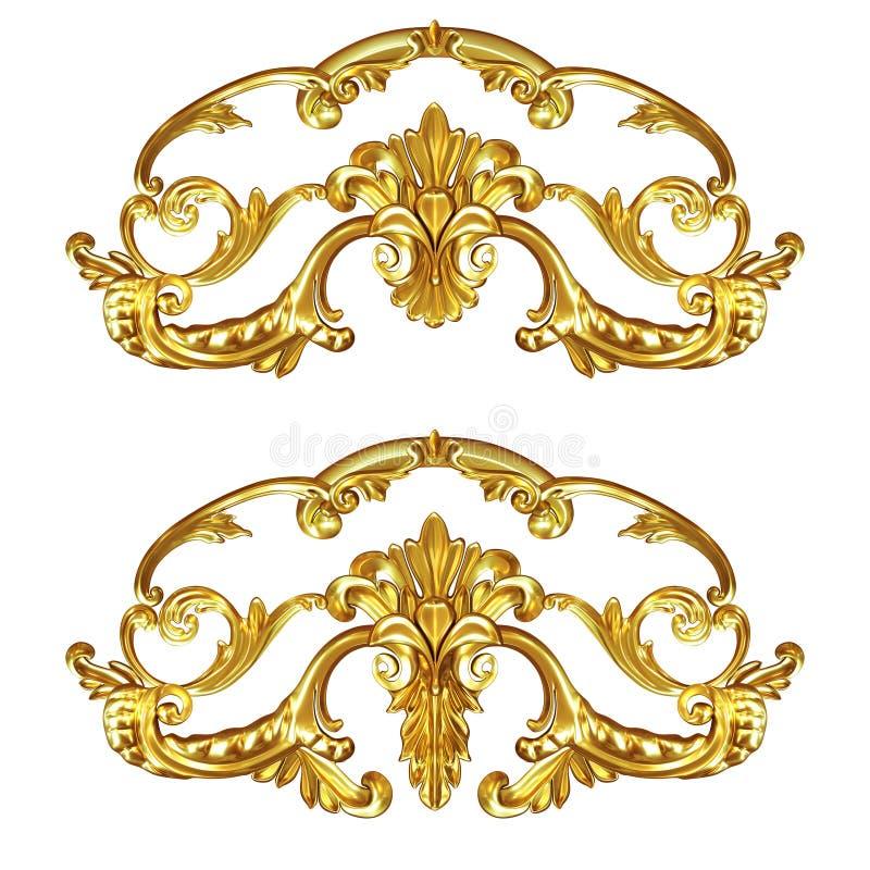 Золото Cartouche иллюстрация вектора