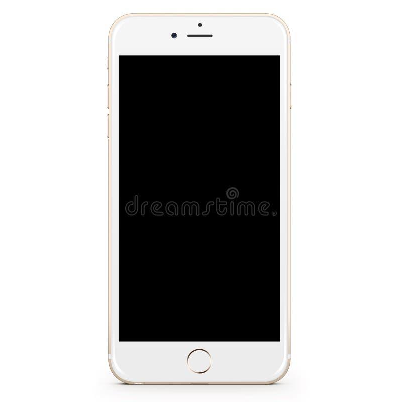Золото Iphone 6 добавочное белое стоковые фотографии rf