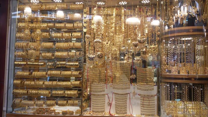Золото Souq стоковое изображение