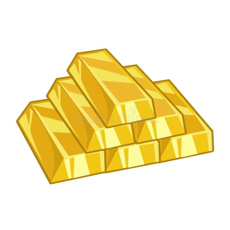 Золотые инготы бесплатная иллюстрация
