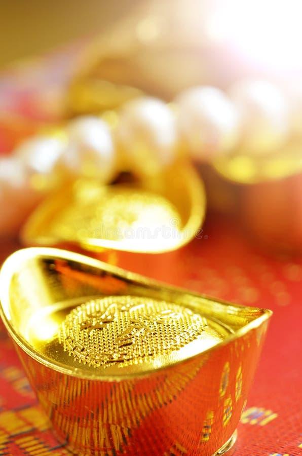 Золотые инготы стоковая фотография rf