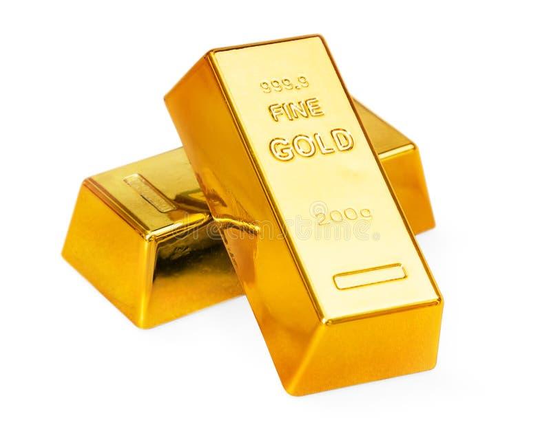 Золотые инготы стоковые фотографии rf