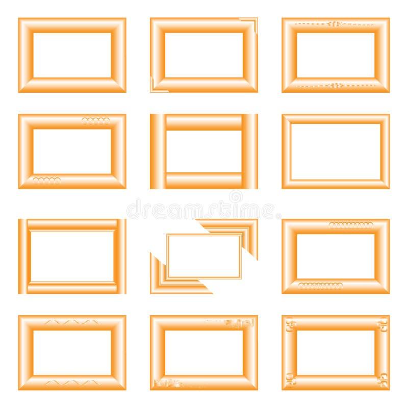 Золотые квадратные рамки стоковое фото rf