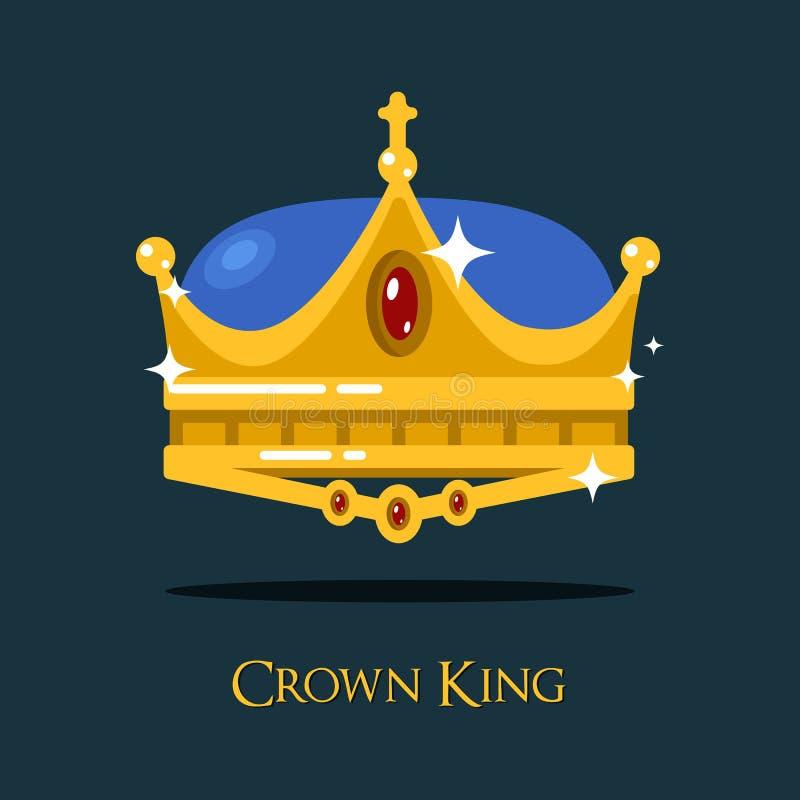 Золотые монарх или крона короля, triada Папы иллюстрация штока