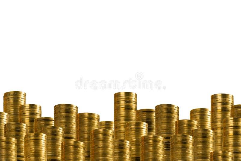 Золотые монетки в строках понижают украшение 2 бесплатная иллюстрация
