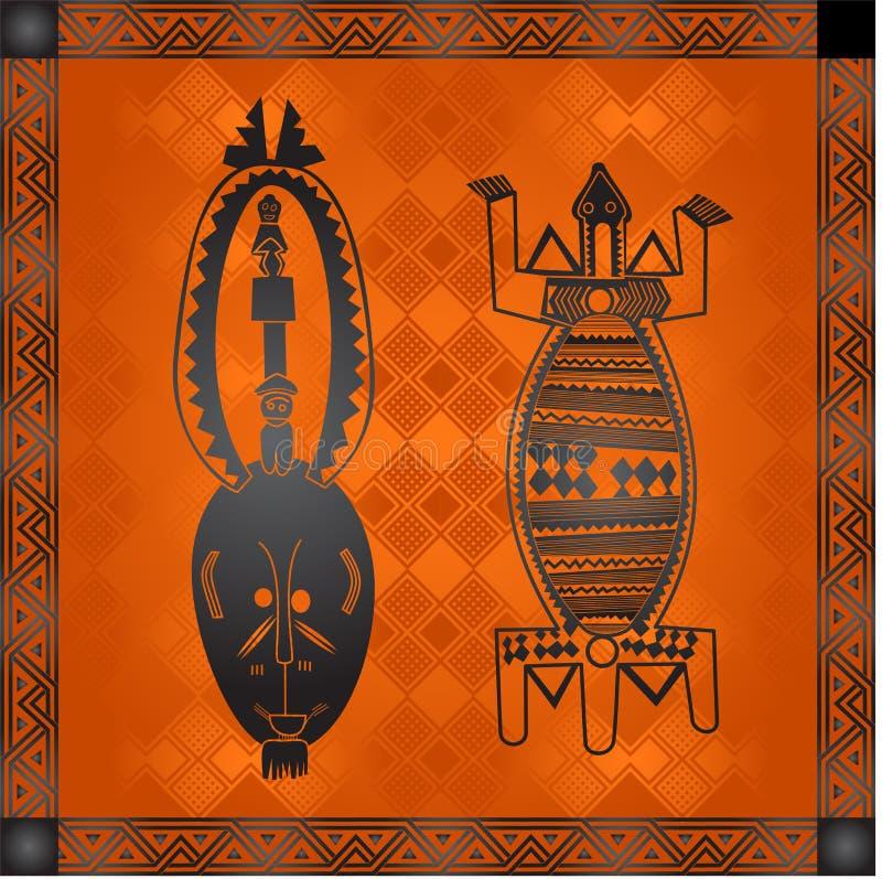 Золотые орнаменты африканских стран и племен стоковое изображение