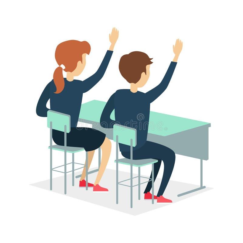 Зрачок 2 сидя на столе школы бесплатная иллюстрация