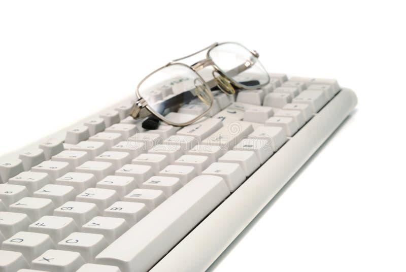 зрелища клавиатуры изображения дела стоковые изображения rf