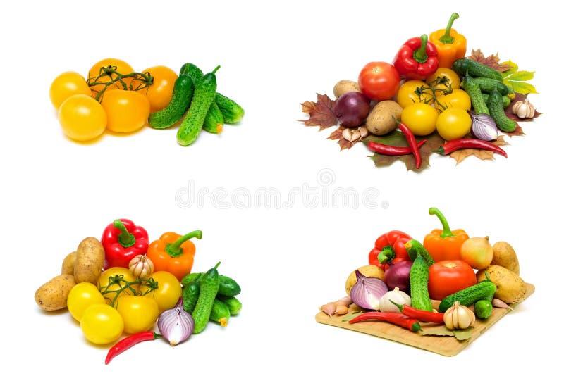 Зрелые овощи изолированные на белой предпосылке стоковое изображение