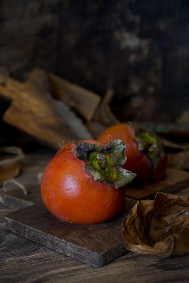 Зрелые плодоовощи kaki стоковое изображение