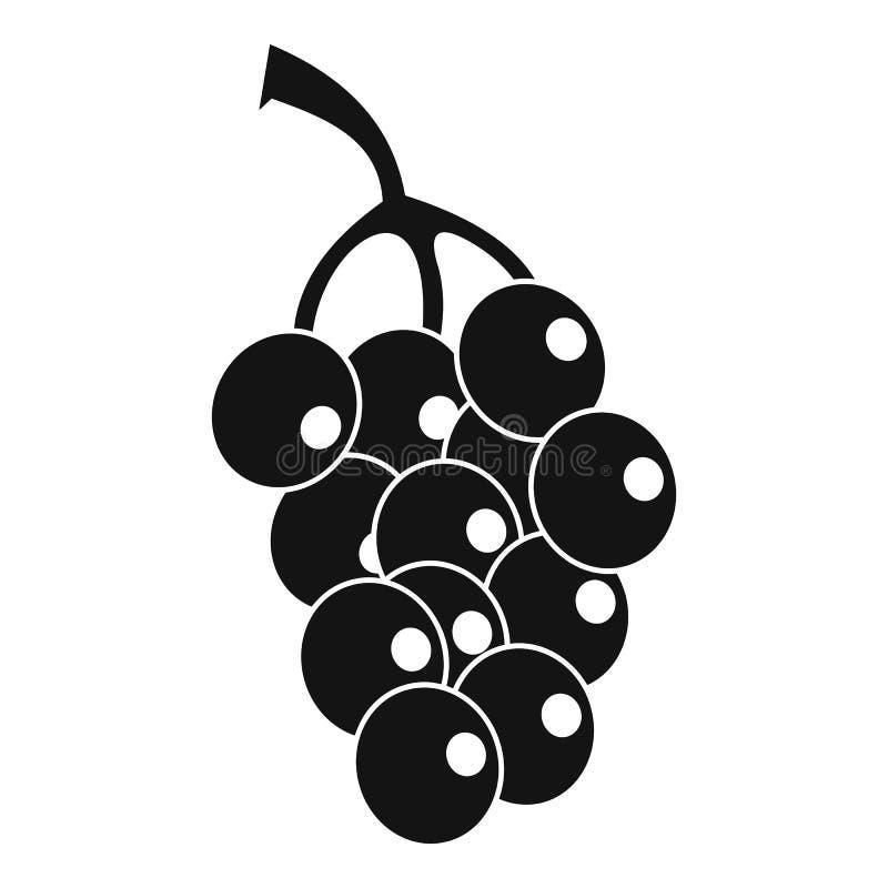 Зрелый значок виноградины, простой стиль иллюстрация штока