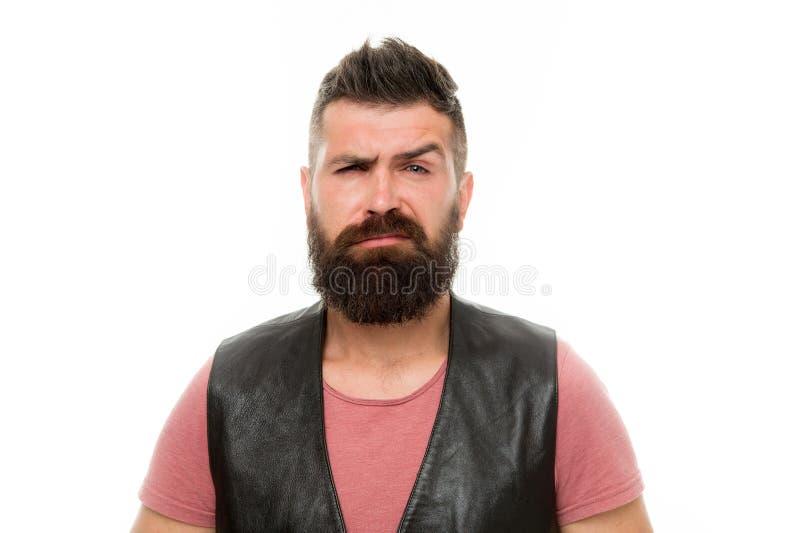 Зрелый хипстер с бородой бородатый человек Забота волос и бороды впрыска красивейшей стороны внимательности BOTOX® лицевая изолир стоковые изображения