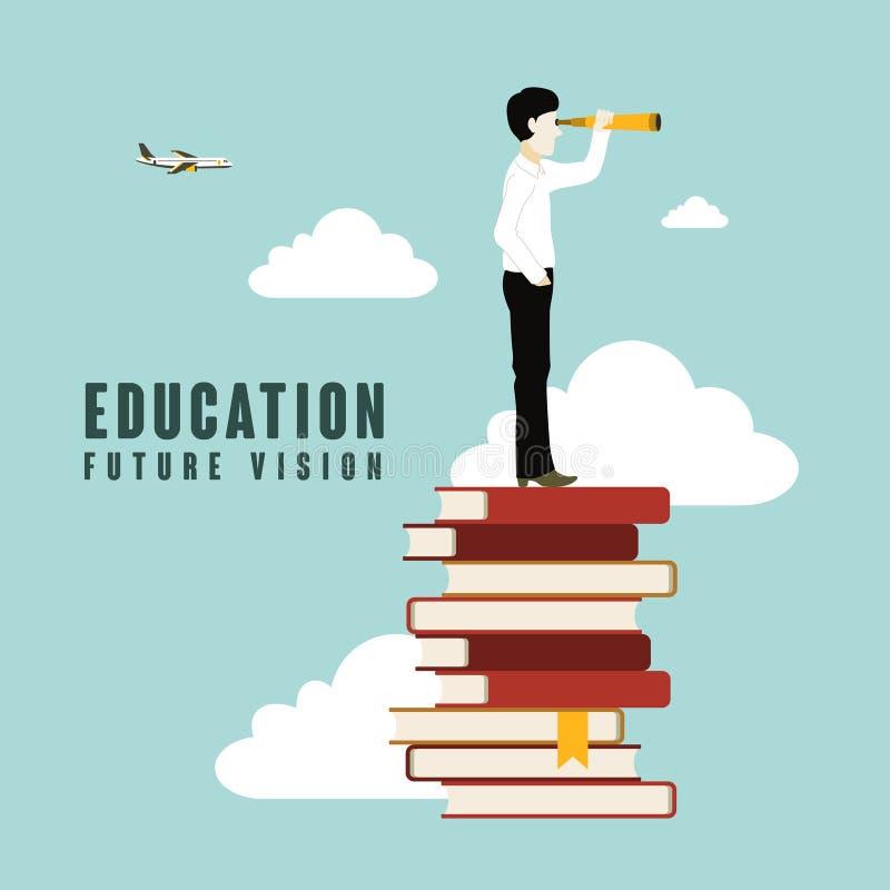 Зрение будущего образования иллюстрация штока