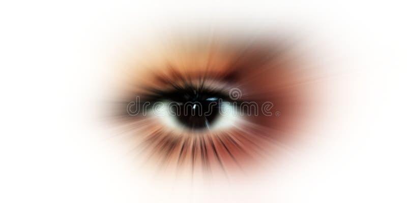 Зрение глаза абстрактный глаз с цифровым кругом футуристические наука зрения и концепция идентификации стоковая фотография