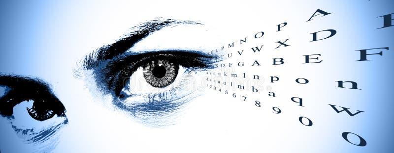 зрение испытания диаграммы стоковое изображение
