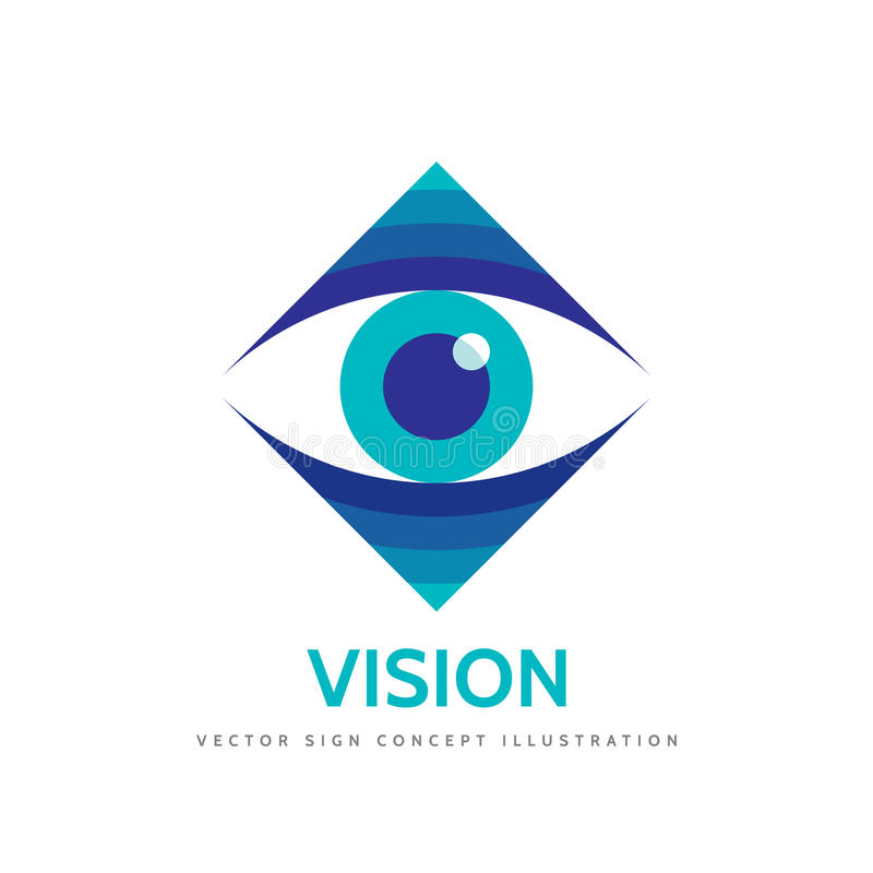 Зрение - иллюстрация концепции шаблона логотипа вектора стрельба макроса глаза eos камеры 20d людская Знак офтальмологии медицины бесплатная иллюстрация
