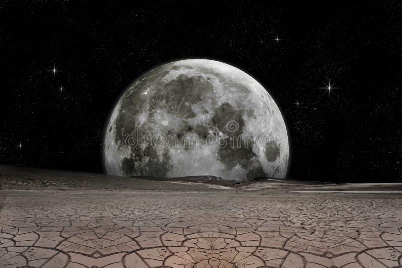 зрение луны иллюстрация вектора