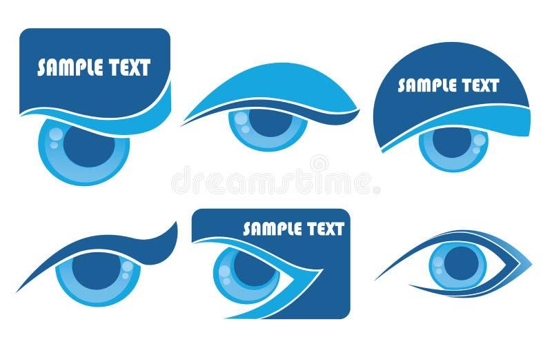 зрение символов иллюстрация штока
