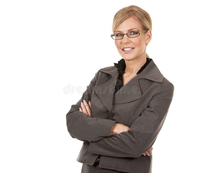 Зрелая бизнес-леди стоковое изображение