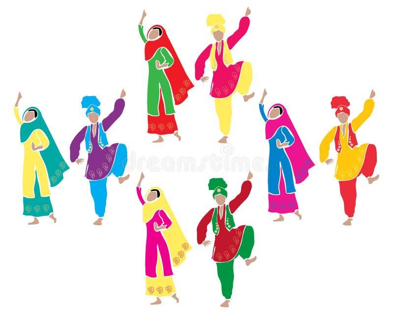Зрелищность Bhangra иллюстрация вектора