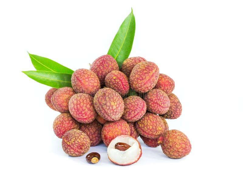 Зрелые плодоовощи litchi стоковая фотография