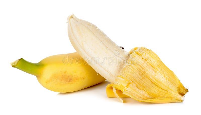 Зрелый банан изолированный на белой предпосылке стоковое фото rf