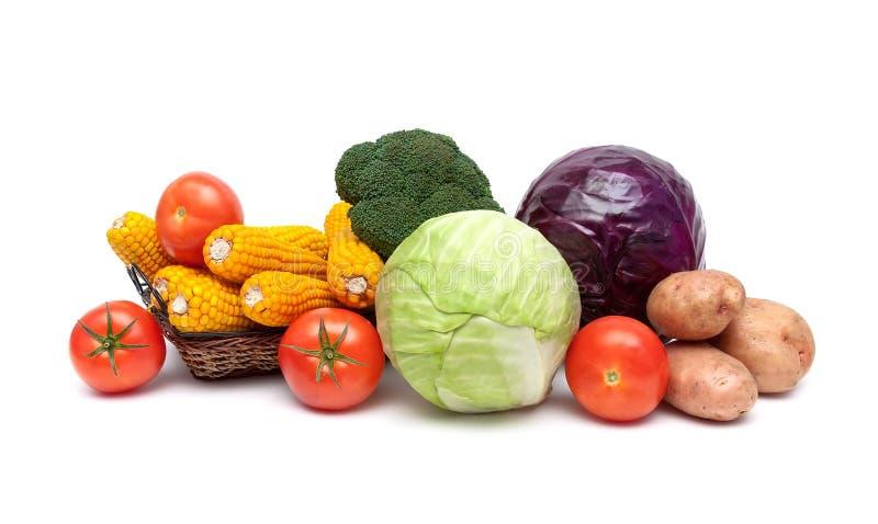 Зрелый конец-вверх овощей изолированный на белой предпосылке стоковые фотографии rf