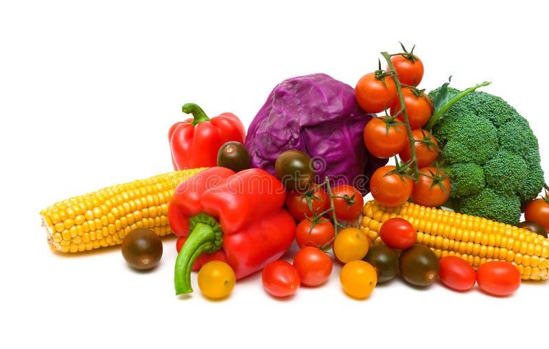 Зрелый конец-вверх овощей на белой предпосылке стоковое изображение