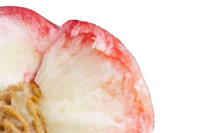 Зрелый персик, макрос стоковые изображения
