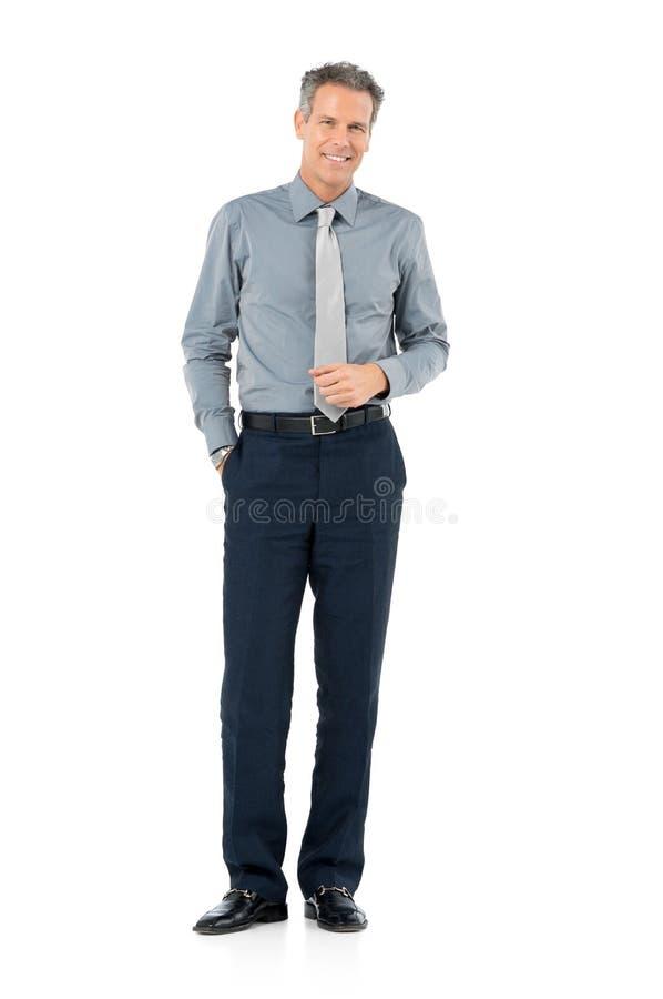 Зрелый усмехаться бизнесмена стоковая фотография rf
