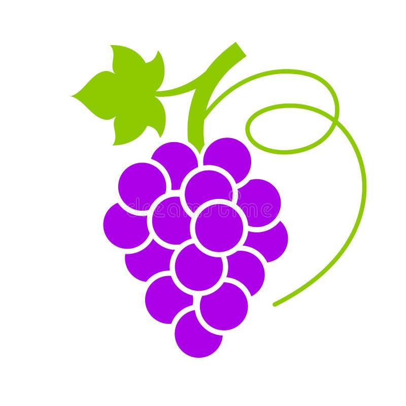 Зрелый фиолетовый значок вектора виноградины иллюстрация вектора