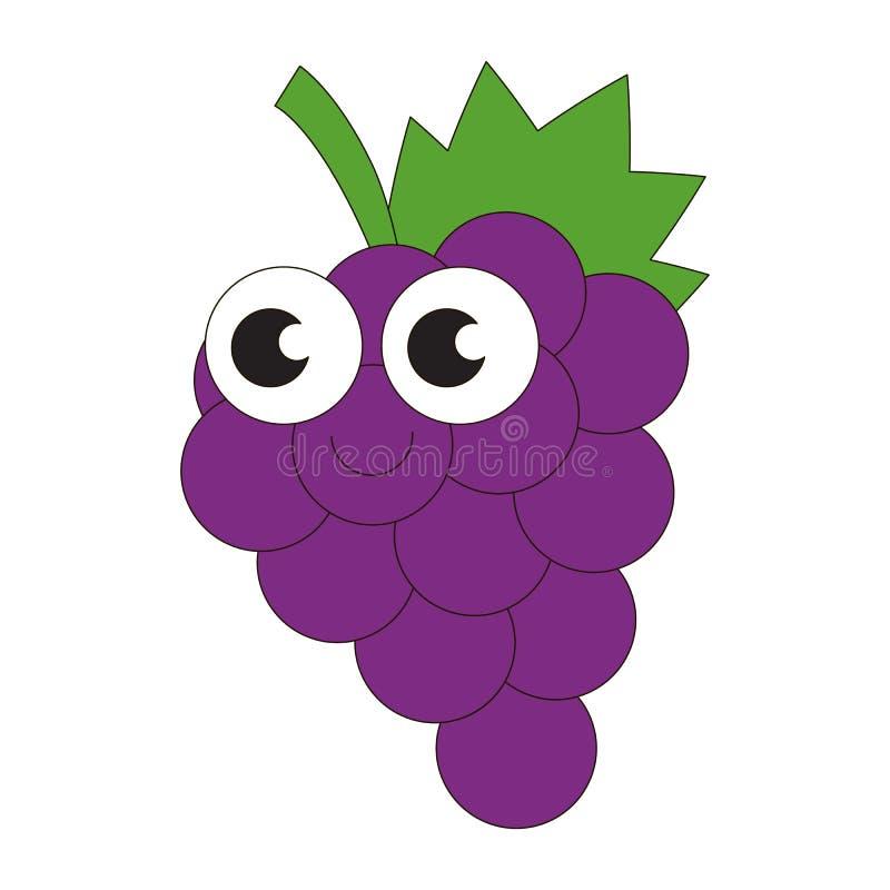 Зрелый шарж виноградин иллюстрация штока