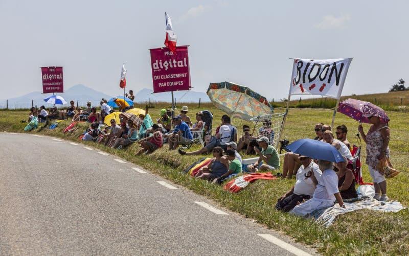 Зрители Le Путешествовать de Франции стоковое фото rf