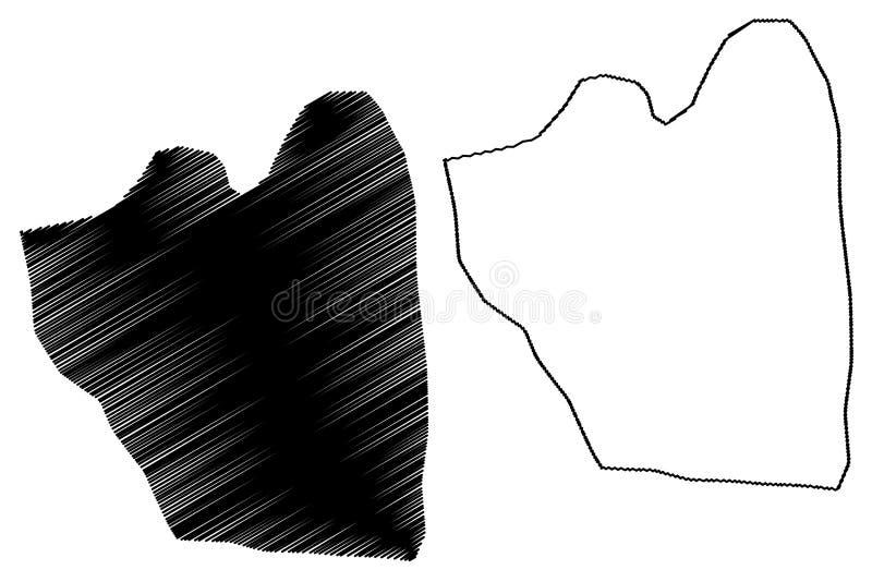 Зрновский муниципалитет (Северная Македония), векторная картинка Восточно-статистической области, набросок сценария Зрновчи бесплатная иллюстрация