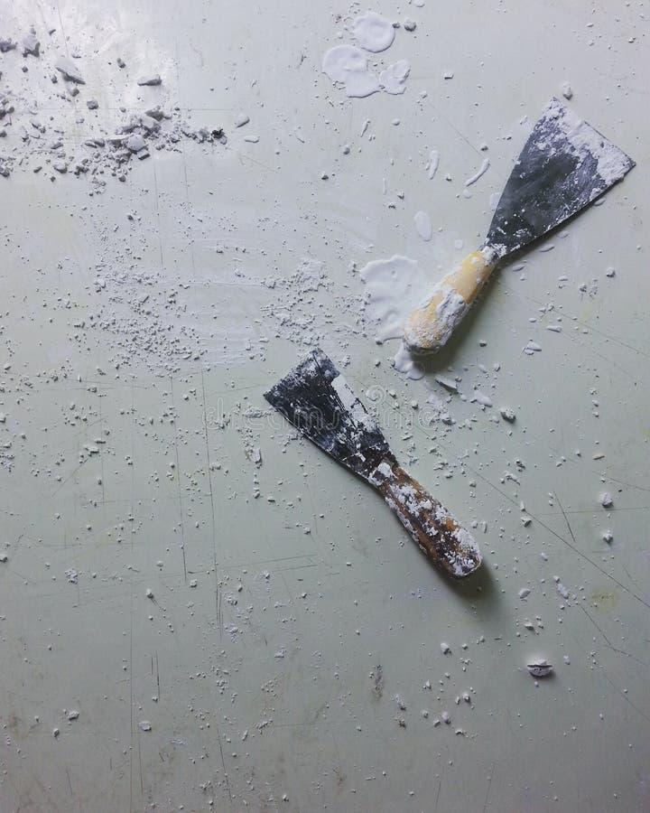 Зубило работы цемента стоковые фотографии rf