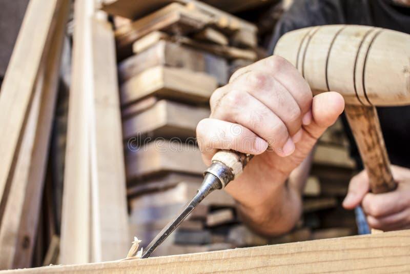 Зубило Gouge деревянное стоковые фото