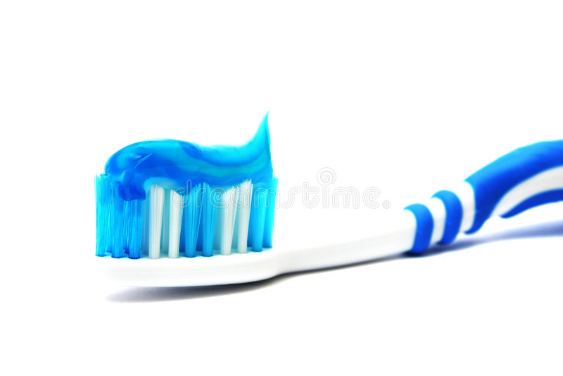 зубная паста щетки зубоврачебная стоковая фотография rf