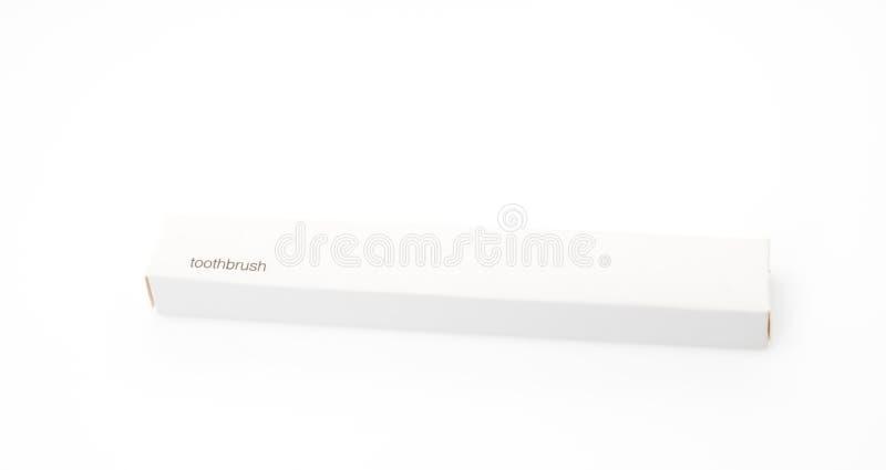 Зубная щетка путешествуя комплект на белой предпосылке стоковые изображения