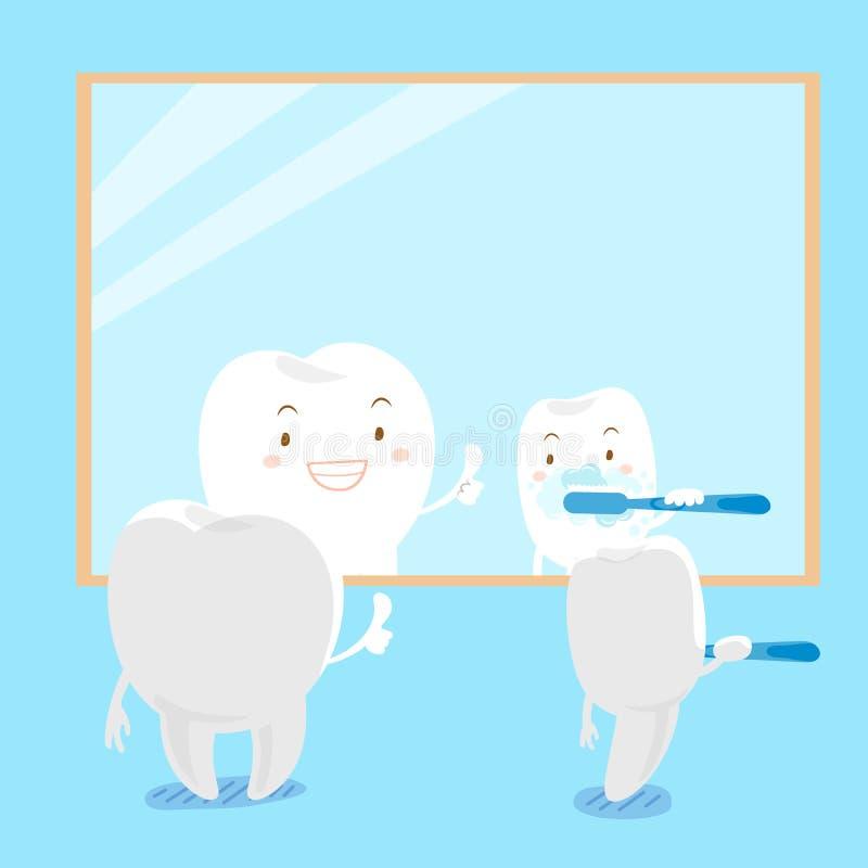 Зубная щетка шаржа иллюстрация штока