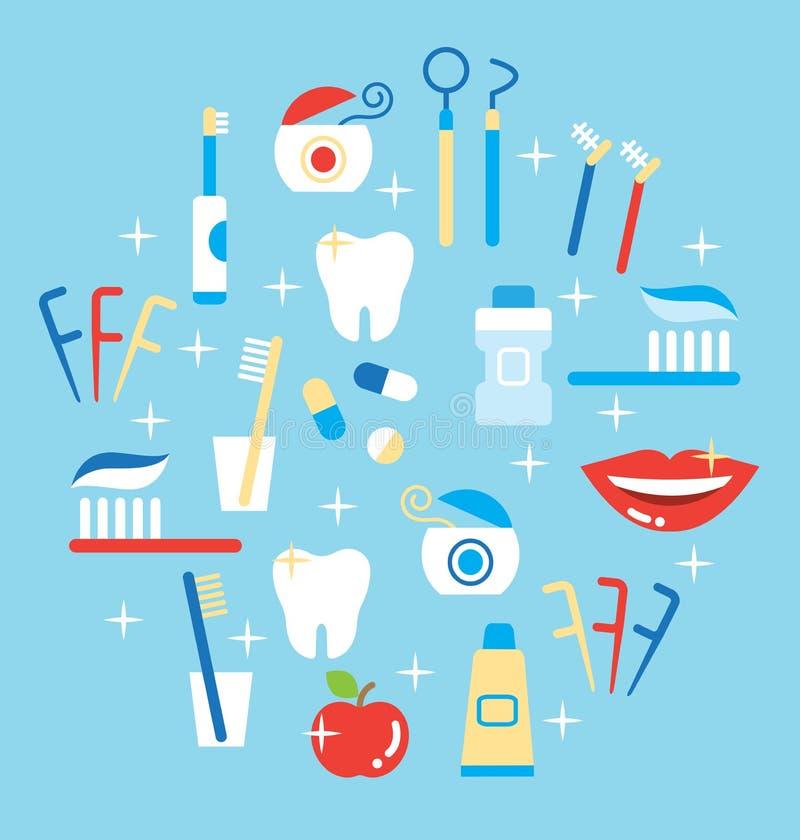 Зубоврачебная внимательность иллюстрация штока