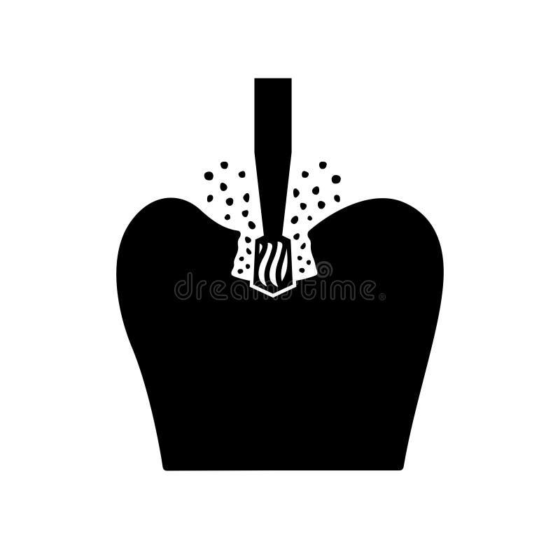 Зубоврачебное сверло которое бурит через эмаль зуба иллюстрация штока