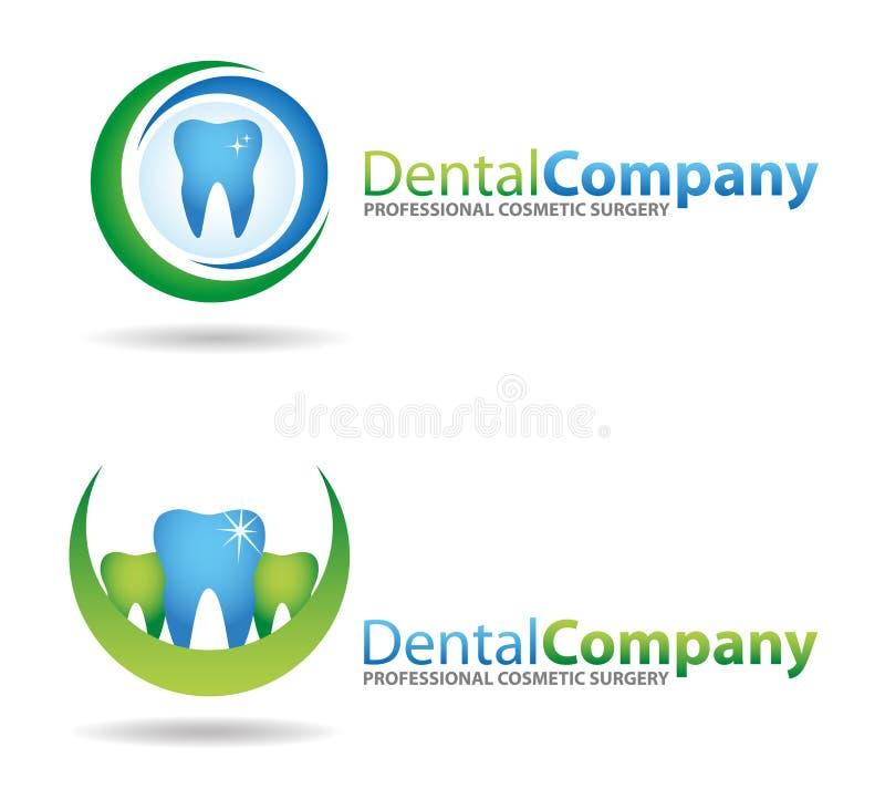 зубоврачебные логосы иллюстрация вектора